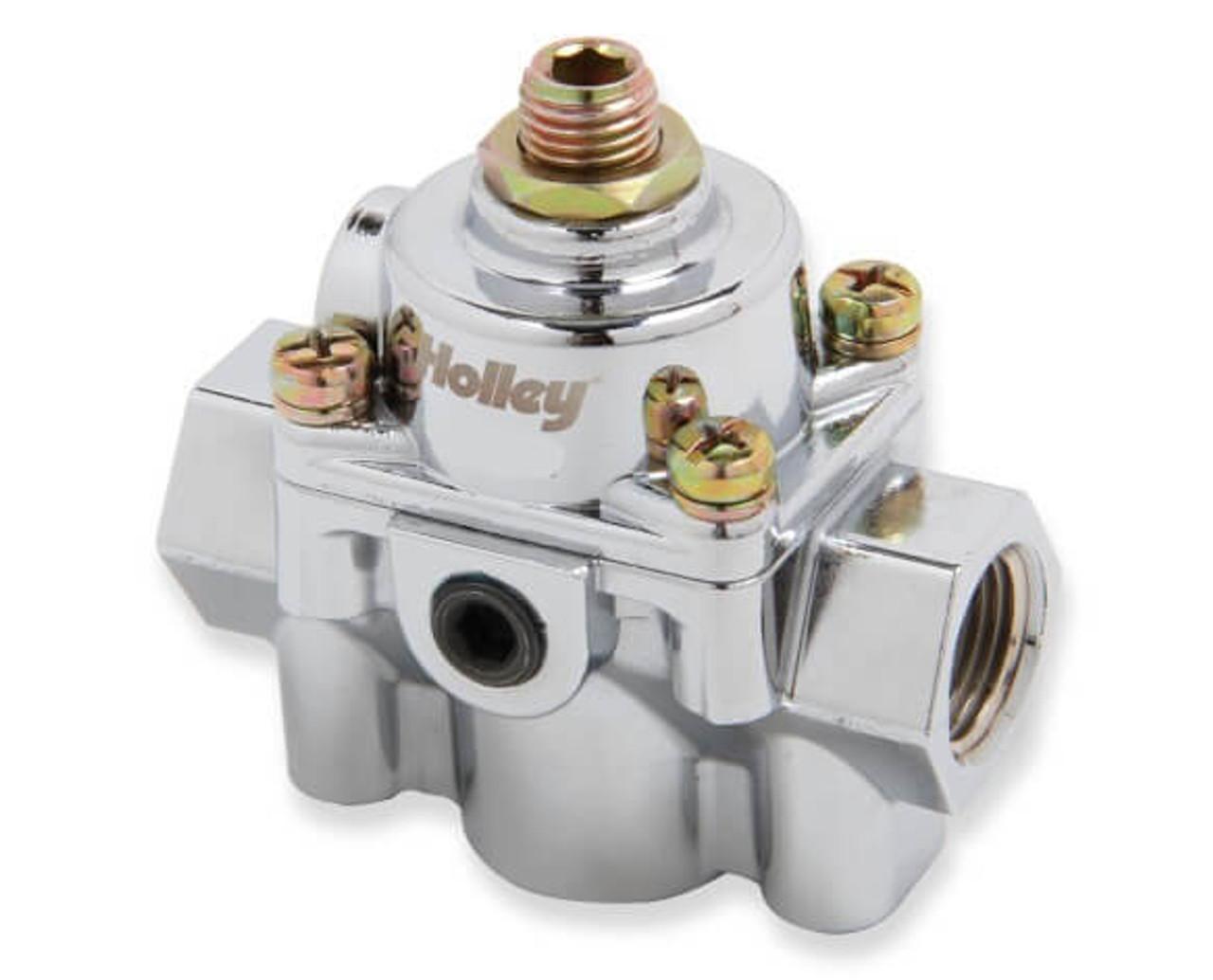 Holley 12-882 Die cast by pass style EFI fuel pressure regulator.