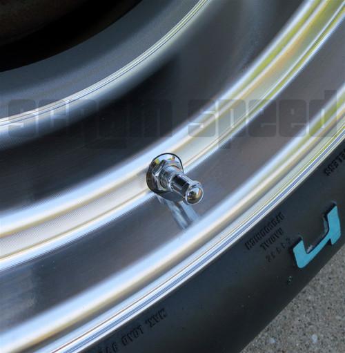 Chrome Steel Valve Stems (Set of 4)