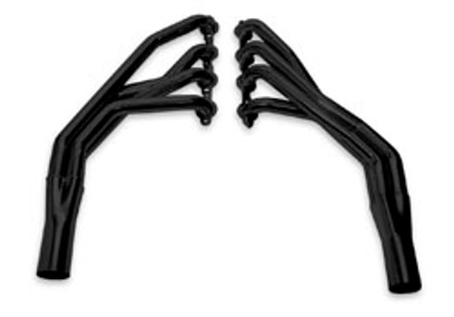 55-57 Chevy LS Swap Header -Stock Steering Black Ceramic Coated