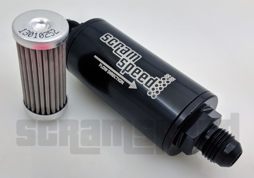 Scram Speed 6AN Fuel Filter - 25 Micron Screen