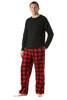 Plaid Polar Fleece Pajama Pants Set