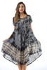 Batik Tie Dye Sundress with Embroidery & Sequins