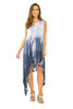 Asymmetrical Tie Dye Tassel Dress