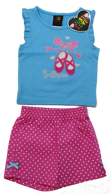 Girls Embroidered Short Set