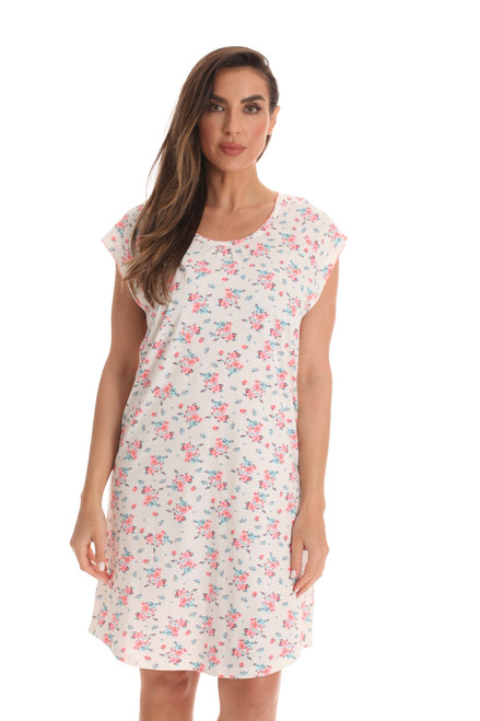 Cotton Cap Sleeve Night Gown