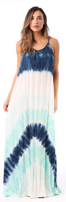 Open Back Maxi Tie Dye Dress