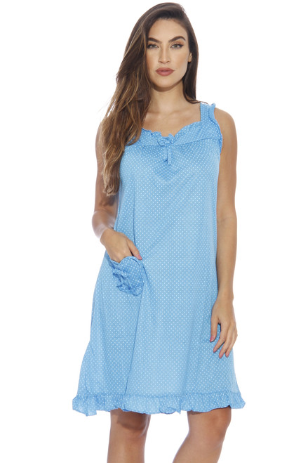 Polka Dot Heart Pocket Nightgown