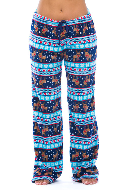 6339-10129-XS Just Love Women's Plush Pajama Pants - Petite to Plus Size Pajamas