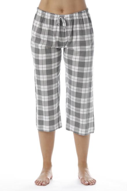Plaid Capri Pajama Bottoms