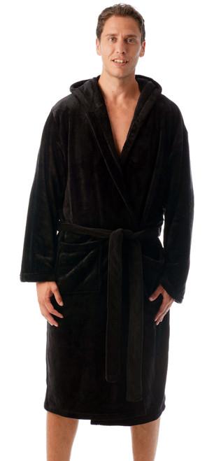 Ultra Soft Velour Robe for Men with Hood
