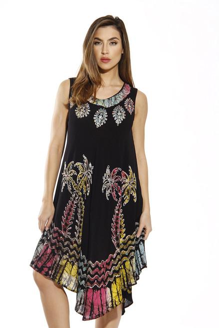 Black Batik Sundress