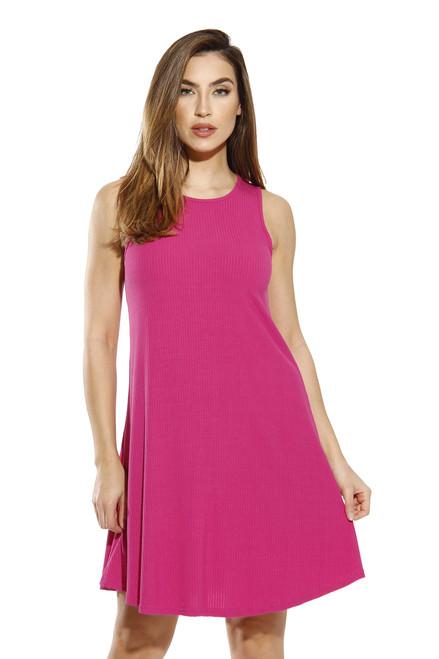 A Line Ribbed Jersey Dress