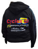 Cycles R Us Black Logo Sweatshirt Hoodie 3X Large Unisex