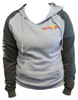 Cycles R Us Hoodie Sweatshirt Gray/Dark Gray Womans Cut Small
