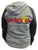 Cycles R Us Hoodie Sweatshirt Gray/Dark Gray Womans Cut Large