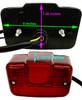 ATV UTV Taillight Lite Duel Filament 3 wire fits Yamaha YFM Moto 4