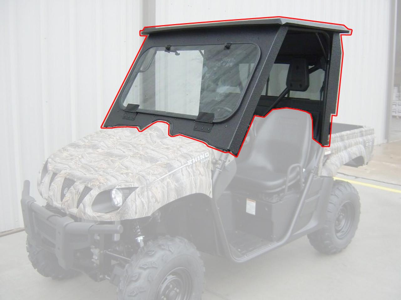 All Steel Complete Cab Enclosure System No Doors Yamaha Rhino 660 700 2007 2013