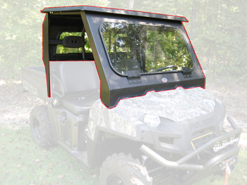 All Steel Complete Cab Enclosure No Doors fits Polaris 2011-14 Ranger 900 Diesel
