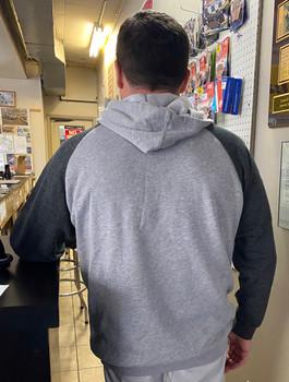 Cycles R Us Hoodie Sweatshirt Gray/Dark Gray Small