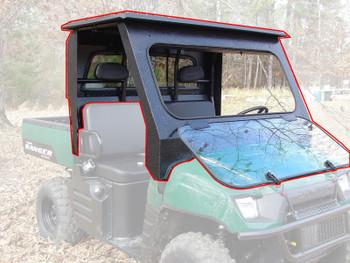 All Steel Complete Cab Enclosure NoDoor for Polaris 10-14 Ranger 400 500 Midsize
