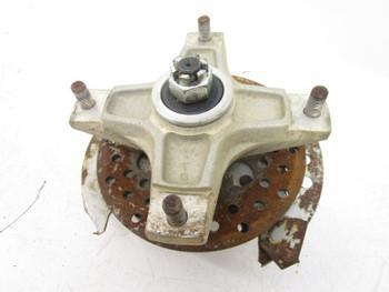 87 Kawasaki KSF 250 Mojave Front Right Steering Spindle Hub *Rusty Rotor*
