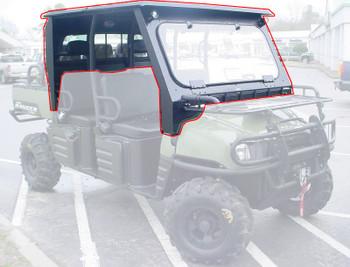 Steel Complete Cab Enclosure System NoDoors for Polaris 10-14 Ranger Crew 570 MS