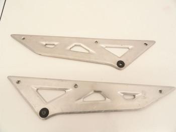 91 Suzuki GSX 750 Katana  Left Right Side Tail Lower Frame Cover Aluminum