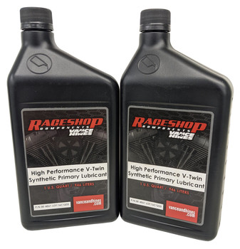 2 Quarts 5W30 Syn Primary Case Oil fits Harley Davidson 1984-up XL XLS XLX 1000