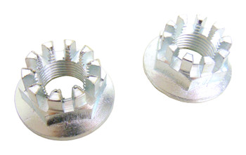 2 Front Axle Hub Castle Crown Nut 18mm x 1.50 for Suzuki 07-10 LTA 450 King Quad