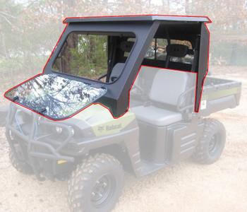 All Steel Complete Cab Enclosure System No Door for Bob Cat 3200 3400 3450 11-13