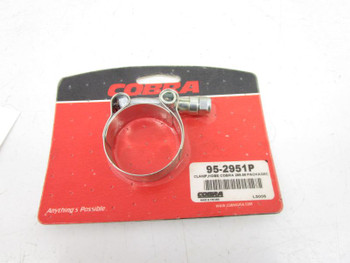 """Cobra 1.65"""" Stainless Steel Exhaust Clamp 95-2951P"""