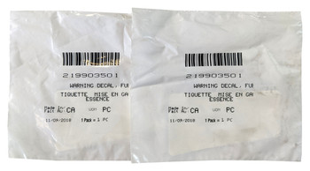 OEM for Sea Doo Lot of 2 Fuel Warning Decal GTS 300 RXP 300 X 260 X 300 Wake 155