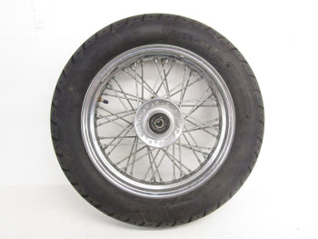 05 Yamaha V Star XVS 650 Classic Used Front Wheel Rim Tire Spokes