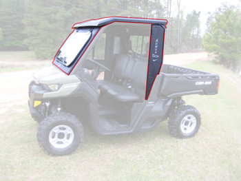 Steel Complete Cab Enclosure Sys No Doors for Can-Am 16-20 Defender FoldDown Frt