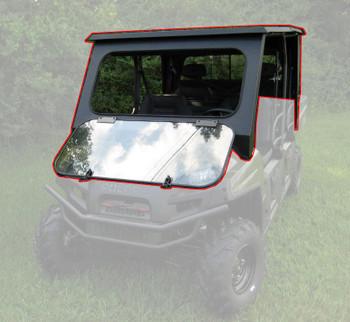 Fits Polaris 15-20 Ranger 1000 Crew Diesel Steel Complete Cab Enc System NoDoor