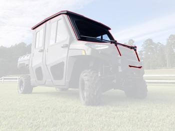 Steel Complete Cab Enclosure System NoDoor for Polaris Ranger Crew 18-20 1000 XP