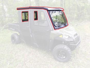 Steel Complete Cab Enclosure System NoDoors 15-20 for Polaris Ranger Crew 570 MS