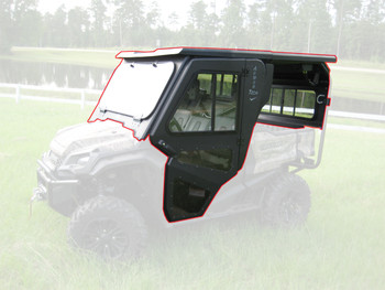 Steel Complete CabEnclosure System w/Doors 16-up for Honda Pioneer SXS1000 5Seat