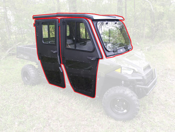 All Steel Complete Cab Enclosure with Doors 15-20 for Polaris Ranger Crew 570 MS
