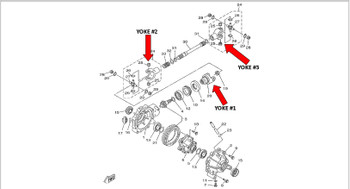 CRU Products Yoke for Yamaha Yoke #1 Must Use Spacer Provided Bolts to Front Differential YFM350 Big Bear