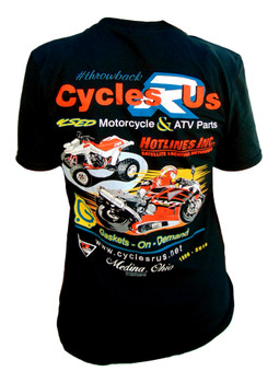 Cycles R Us Throwback Tee Shirt Large Black