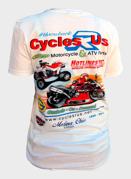 Cycles R Us Throwback Tee Shirt Medium White