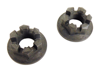 2 Rear Axle Hub Castle Crown Nut 14mmX1.50 83-85 Yamaha YTM200 YTM 200 Tri Moto