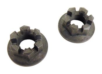 2 Rear Axle Hub CastleCrown Nut 14mmX1.50 for Yamaha 86-88 Moto 4 YFM225 YFM 225