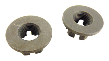 2 Rear Axle Hub Castle Crown Nut 14mmX1.50 83-86 Yamaha YTM 225 YTM225 Tri Moto