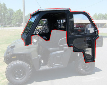 All Steel Complete Cab Enclosure System w/ Door Polaris 16-up Ranger 570 FS Econ