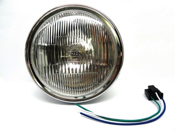 EMGO Complete Headlight Lite Assembly 7 Inch fits Honda Kawasaki Yamaha Suzuki