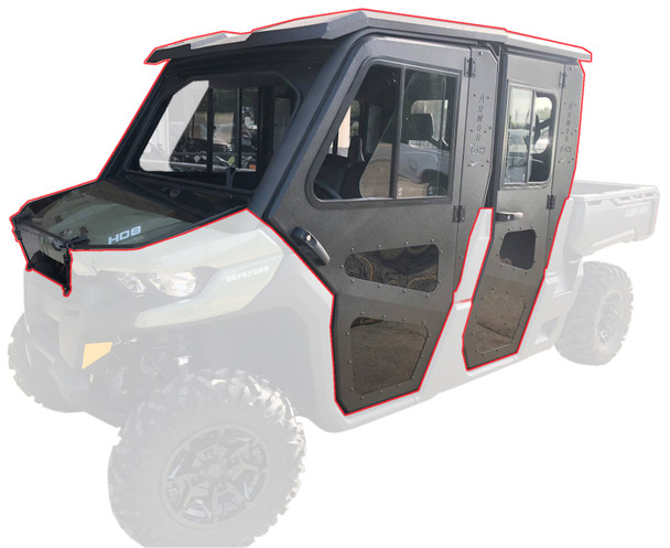 Steel Complete Cab Enclosure System with Doors for Can-Am Max 2016-20 Defender
