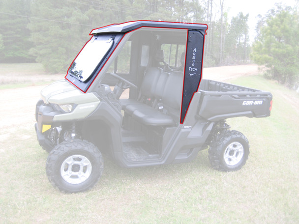 All Steel Complete Cab Enclosure System No Doors Can-Am 2016 17 18 19 Defender