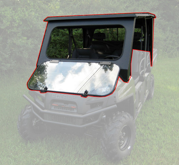 All Steel Complete Cab Enclosure System No Doors Polaris Ranger Crew 700 08-09
